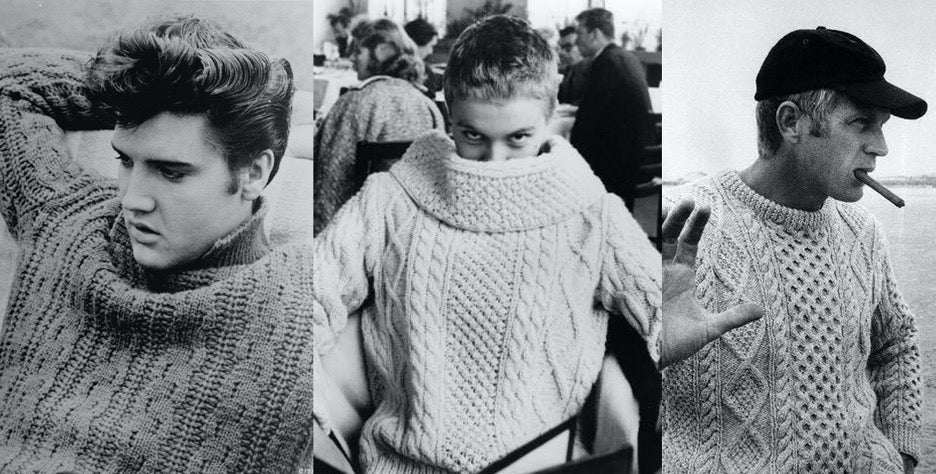 What's behind an Irish/Aran Fisherman's Sweater?