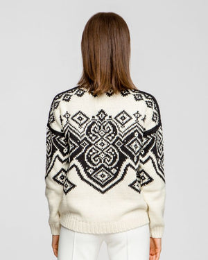 Dale of Norway - Falun Women's Sweater - off White/Black
