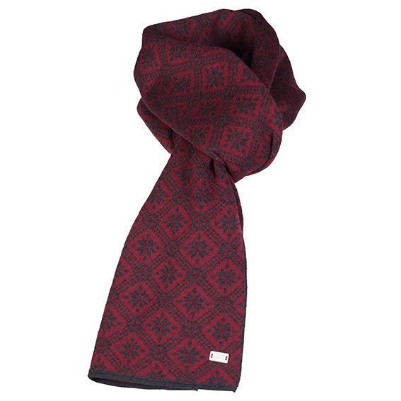Dale of Norway - Christiania Scarf - Ruby