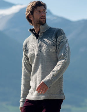 Dale of Norway - 140th Anniversary Men's Sweater - Light Charcoal