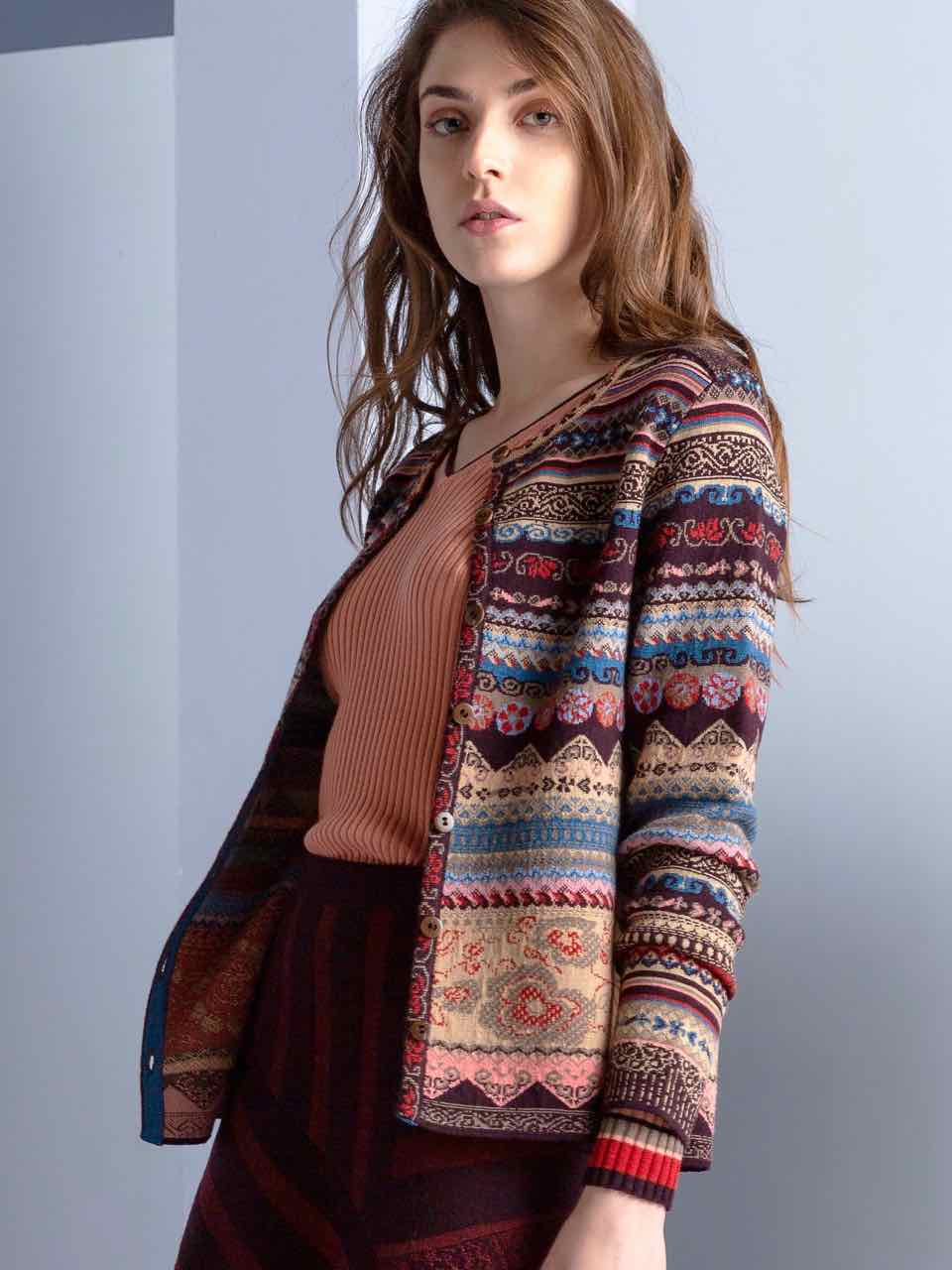 Ivko - Wool Button Cardigan