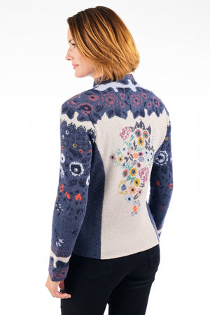 Ivko - Embroidered back Cardigan