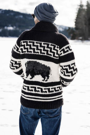 Cowichan Sweater - Bison - AVAILABLE IN 8 SIZES