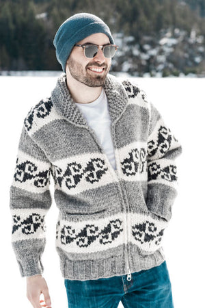 Cowichan Sweater - Geometric - AVAILABLE IN 8 SIZES