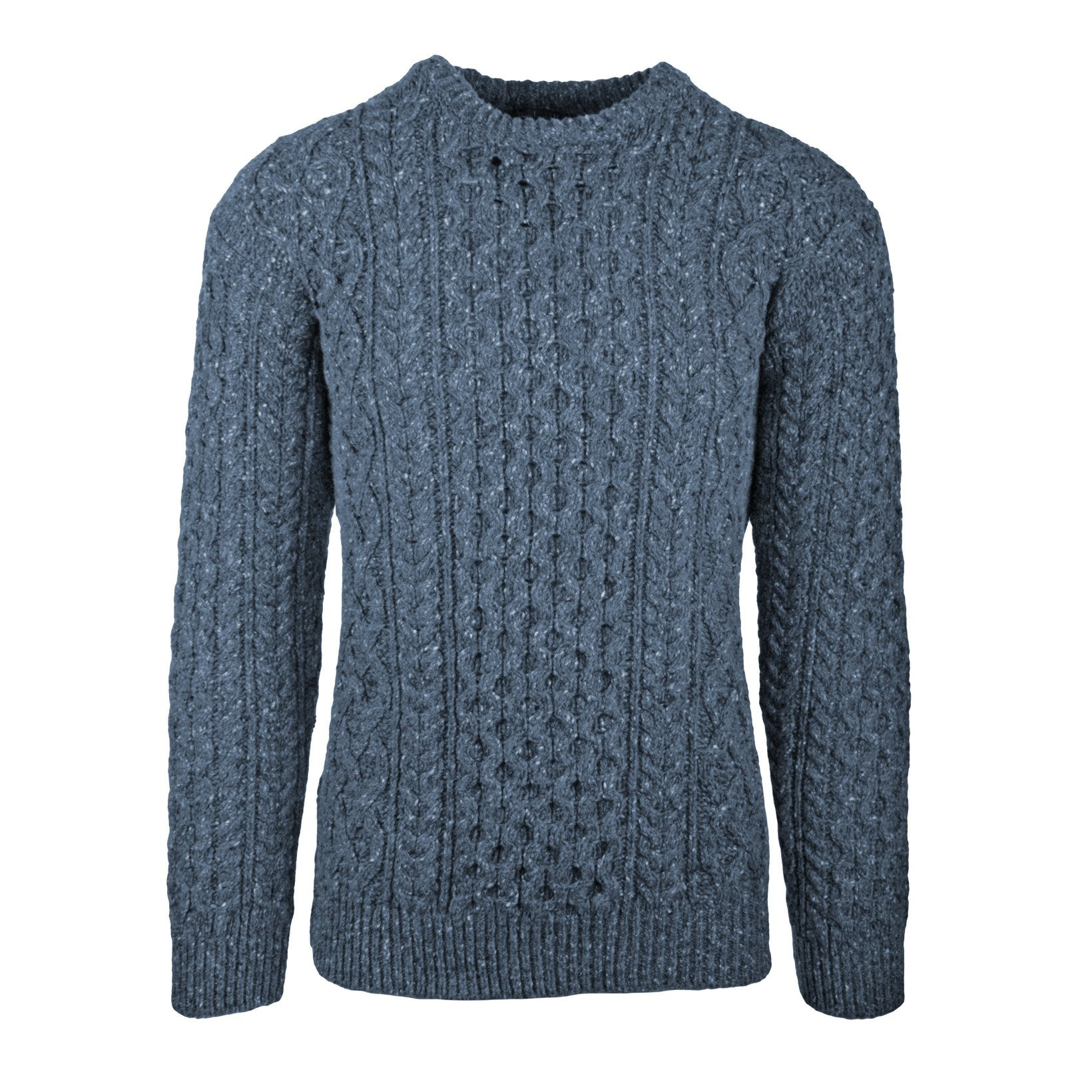 Ireland Eye - Carriag Luxe Aran Sweater - Ocean