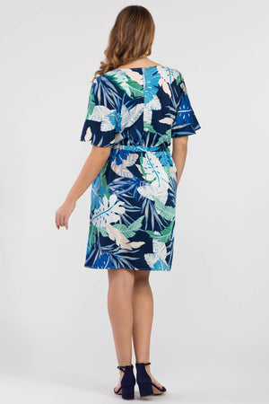 Tribal - Tropical Leaf Print Dress