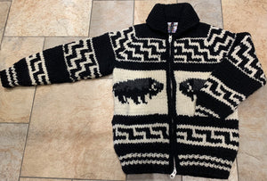 Cowichan Sweater - Bison - Black