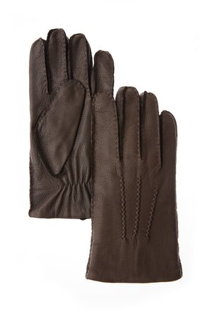 Brume - Men's Caribou Deerskin Glove - BROWN