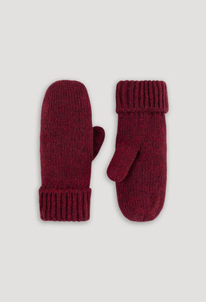Rella - Jersey Cable Mitt - Redwood