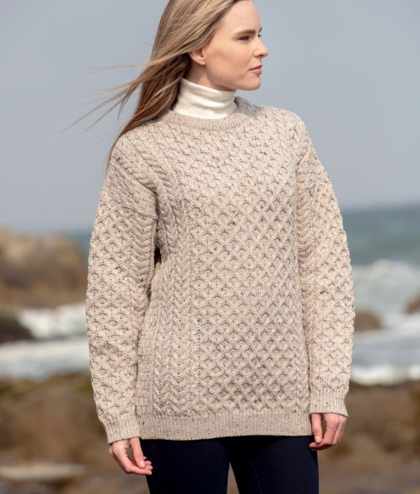 Irish - Cable Sweater - Oatmeal