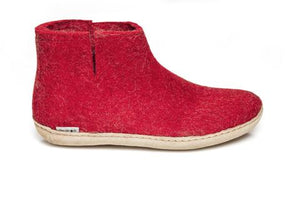 Glerups Unisex Boot - Leather Sole - Red