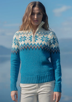 Dale of Norway - Myking Women's Sweater - Turquoise