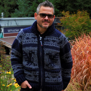 Cowichan Sweater - Navy Raven