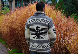 Cowichan Sweater - Eagle - AVAILABLE IN 8 SIZES