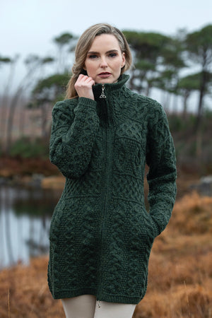 Irish - Double Collar Coat - Green