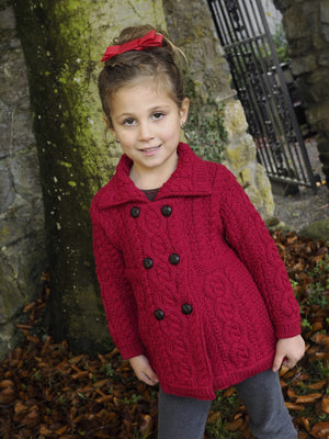 Irish - Girls Coat - Garnet