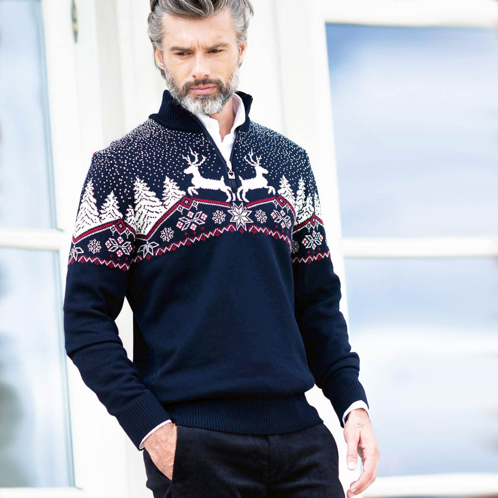Dale of Norway - Christmas Men's Sweater - Navy