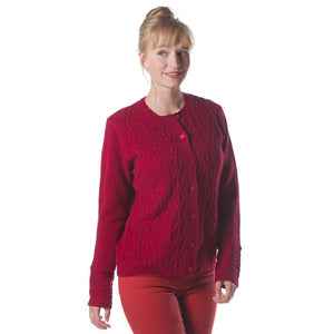 Irish - Foxrock Button Sweater - Deep Lavender