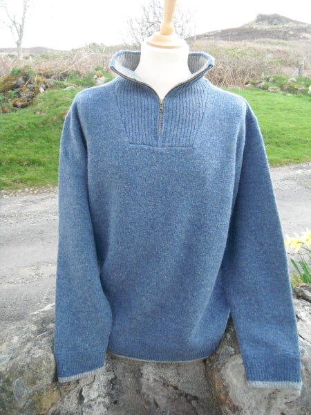 Irelands Eye - Knitted Half Zip Sweater