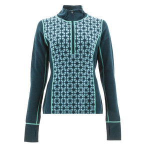 Icelandic Design - Jessica Zip Neck Sweater - Teal