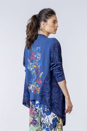 Ivko - Open Cotton Embroidered Back - Navy