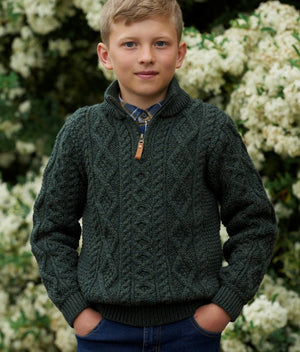 Irish - Kids Half Zip Sweater
