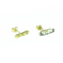Diamond Peace Earrings