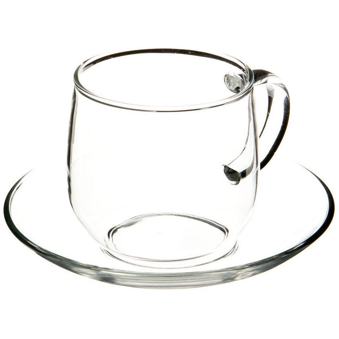 Glass Cup and Saucer Set - Shineworthy Tea
