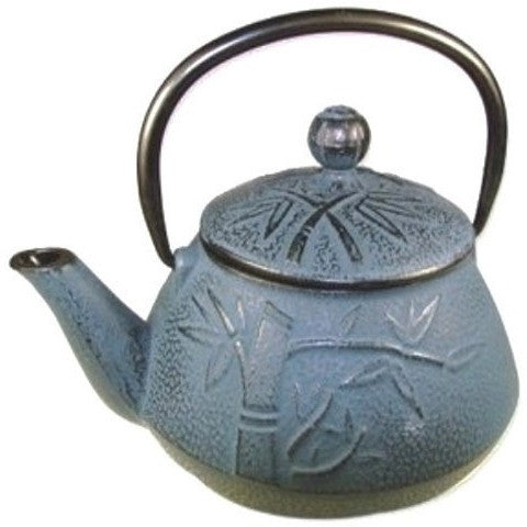 Blue bamboo cast iron teapot shineworthy tea - Imperial dragon cast iron teapot ...