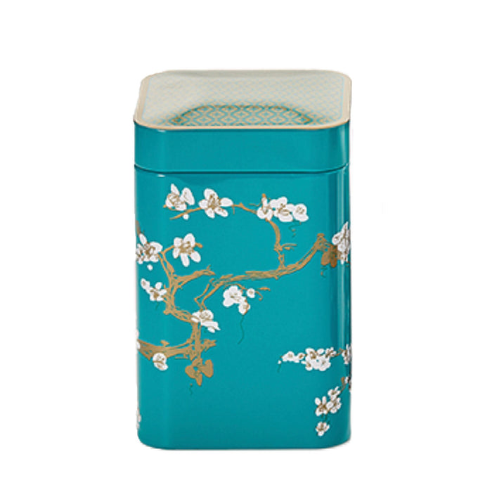 Japanese Style Tea Tin - Teal - Shineworthy Tea