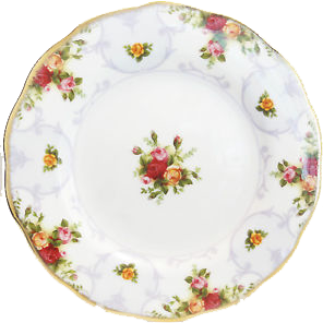 Royal Albert Rose Cameo Violet Salad Plate - Shineworthy Tea