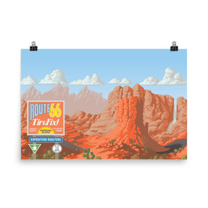 Expedition Roasters Route 66 Tire Fix Poster