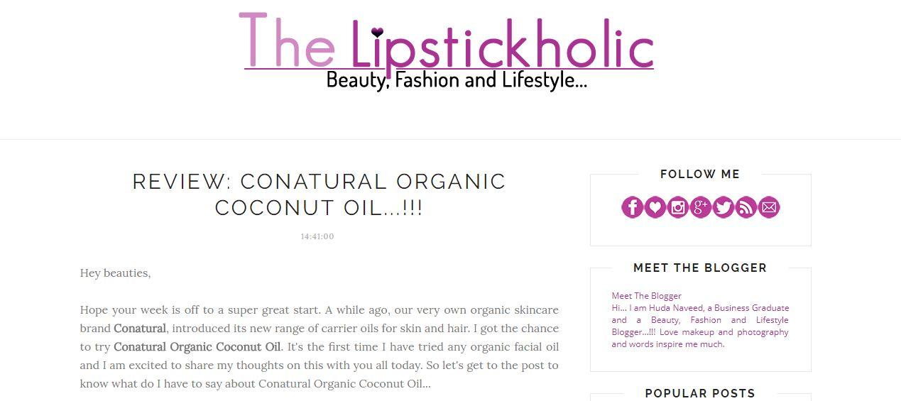Lipstickholic-review-conatural-coconut-oil