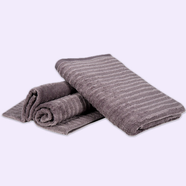 Home Essentials Luxury Towels (Colour: Anthrazite) - Conatural