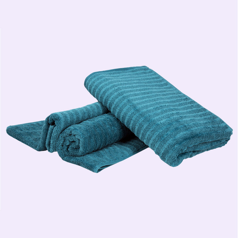 Home Essentials Luxury Towels (Colour: Dark Teal) - Conatural