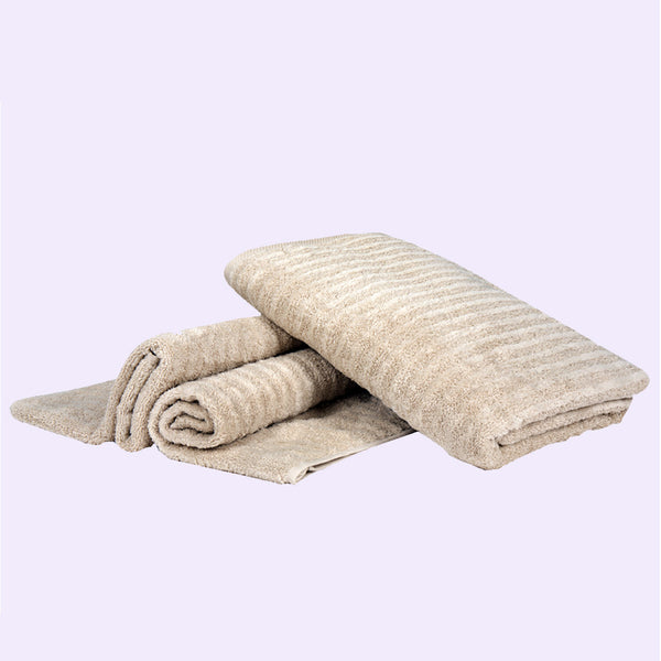 Home Essentials Luxury Towels (Colour: Taupe) - Conatural