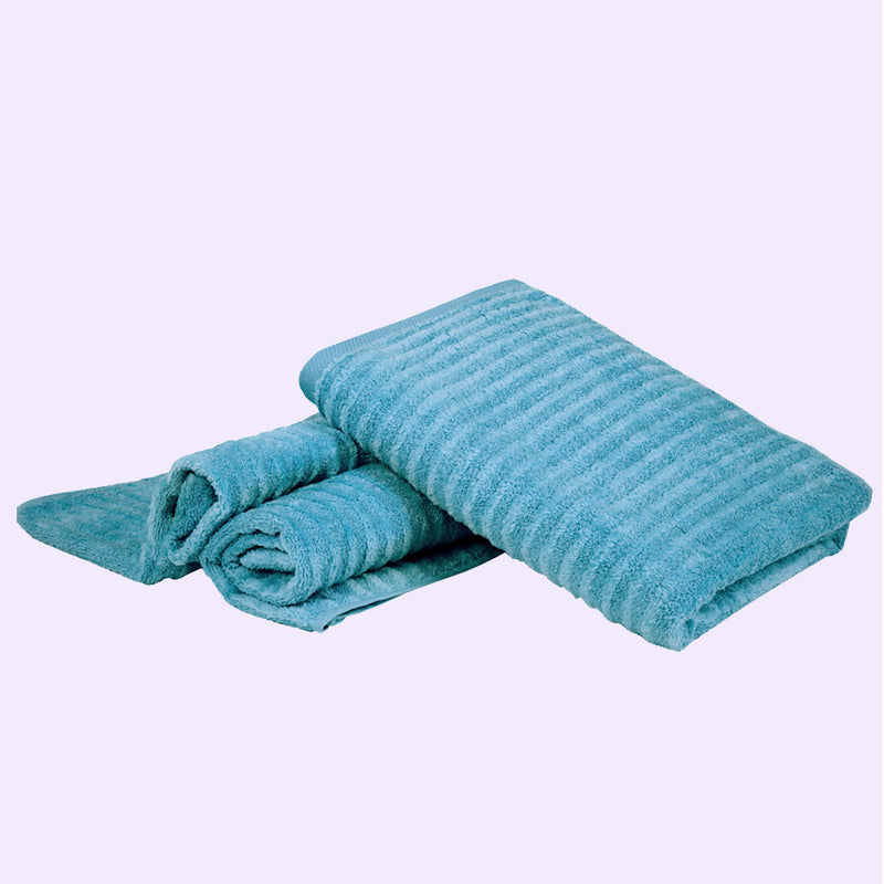 Home Essentials Luxury Towels (Colour: Turquoise) - Conatural