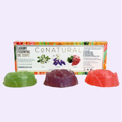 Luxury Essential Oil Hand Soaps (Set Of 3) - Conatural