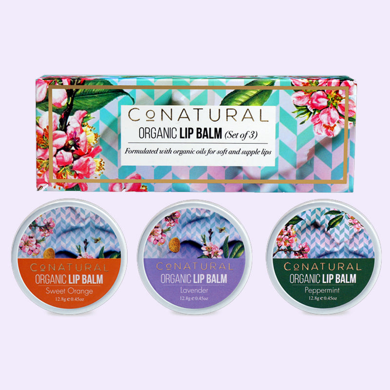 Organic Lip Balm (Set Of 3) - Conatural
