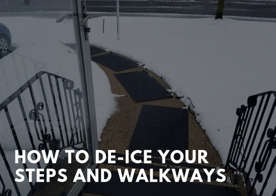 How to De-Ice Your Steps and Walkways