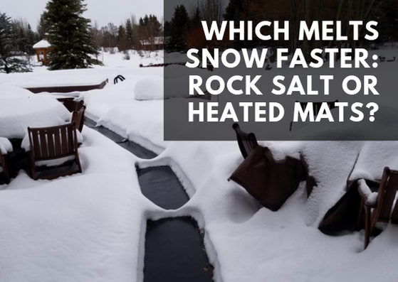 What Melts Snow Faster: Rock Salt or Heated Mats?
