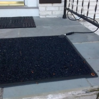 Peter completely eliminated black ice from his front steps