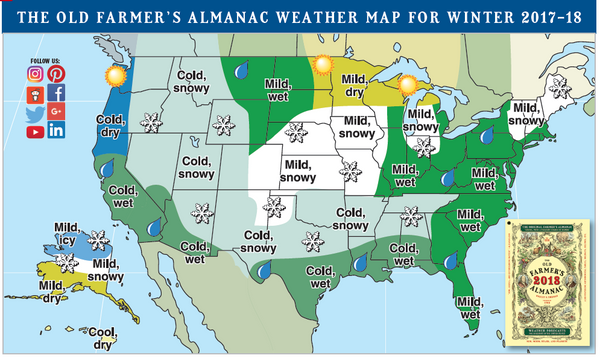 What Does the Old Farmer's Almanac Say About U.S. Winter 2017/18?