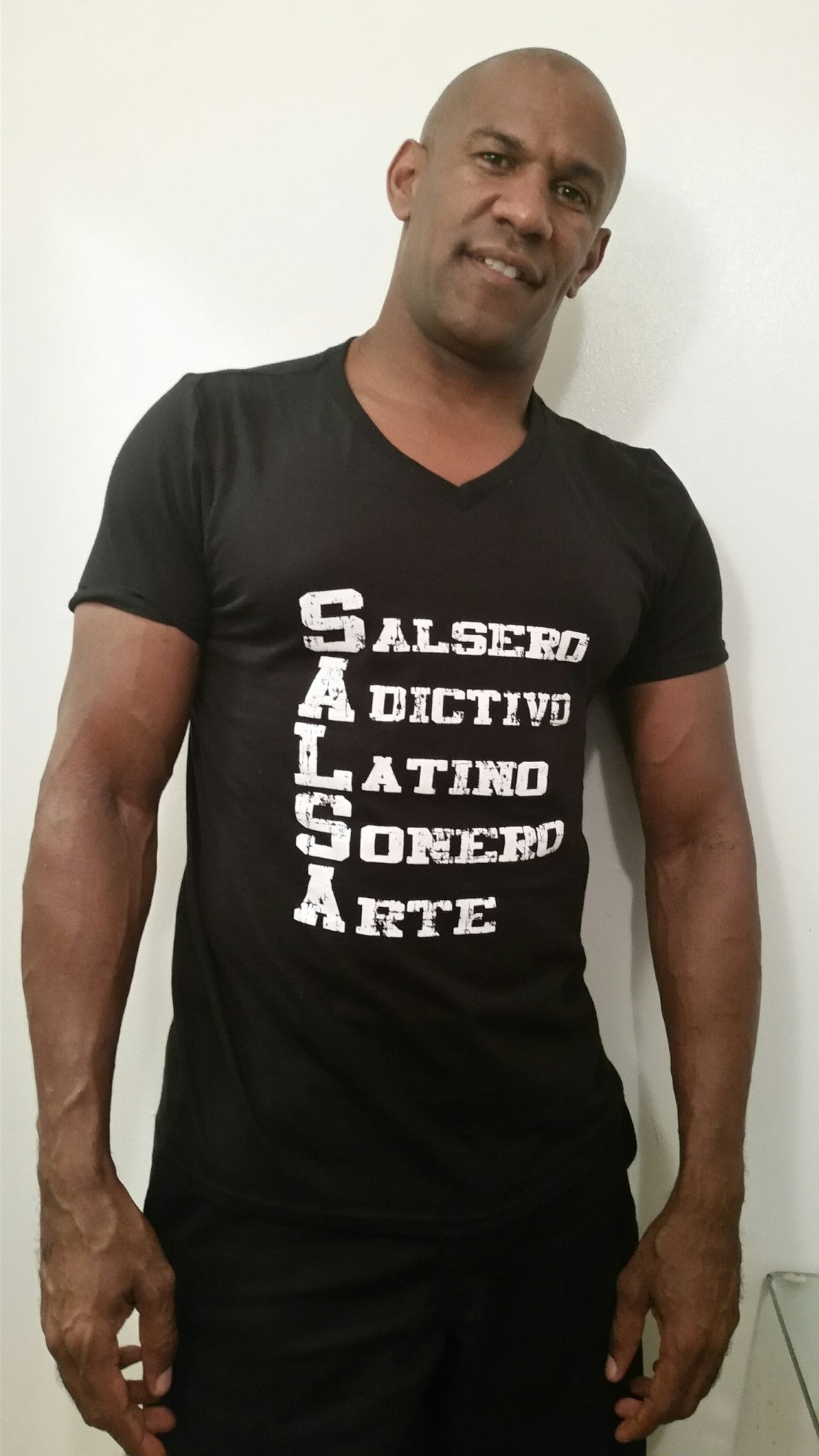 Men's V Neck SALSA Tee