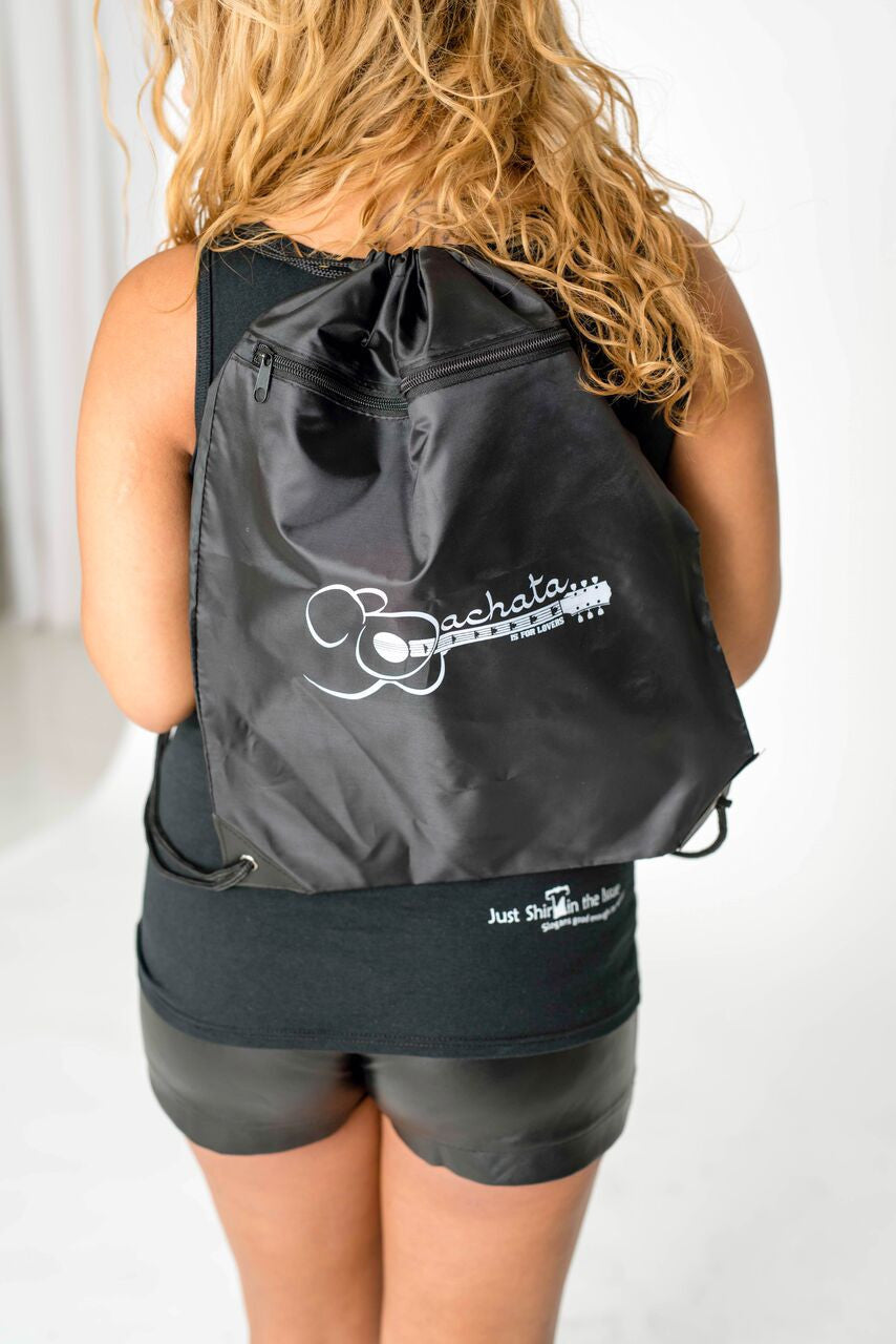 Bachata Is For Lovers! Zippered Drawstring Sack