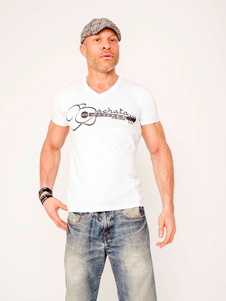 Men's Bachata Is For Lovers V Neck Tee