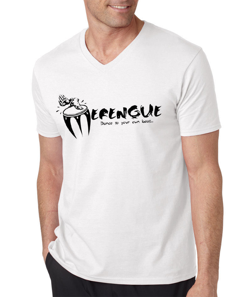 Men's Merengue, Dance To Your Own Beat!  V-Neck Tee