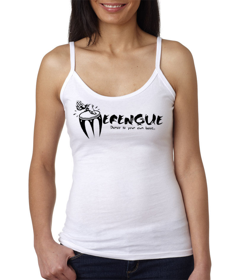 Women's Merengue, Dance To Your Own Beat!  Spaghetti Strap Tank Tee