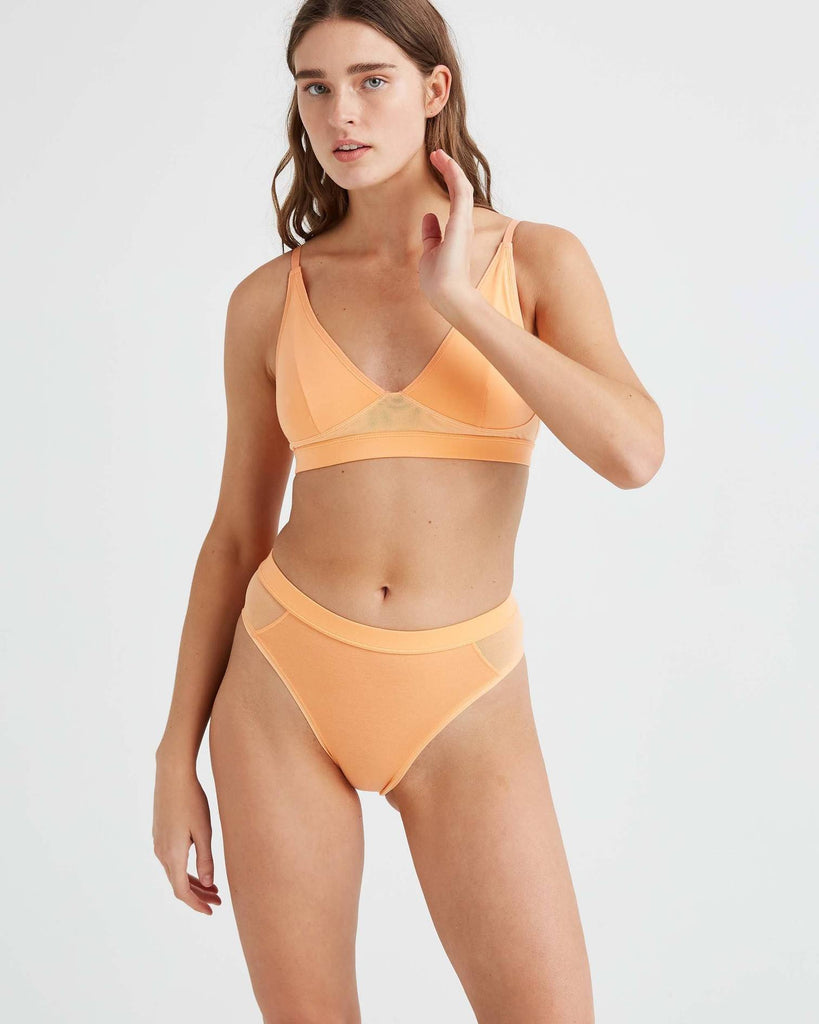 RICHER POORER - HIGH CUT BRALETTE - CANTALOUPE