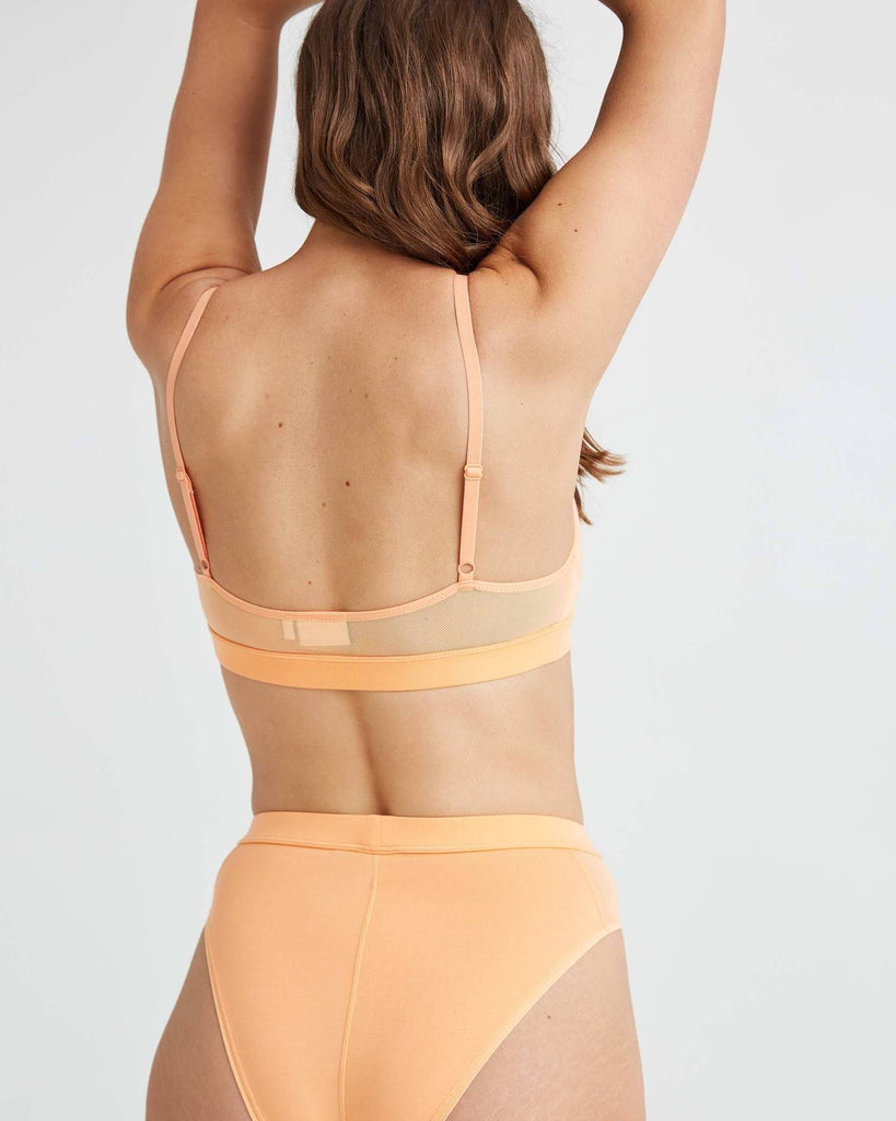 RICHER POORER - HIGH CUT BRALETTE - CANTALOUP